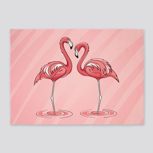 Pink Flamingos 5'x7'area Rug