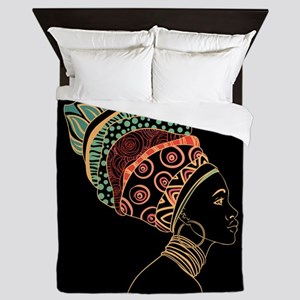 African Woman Queen Duvet