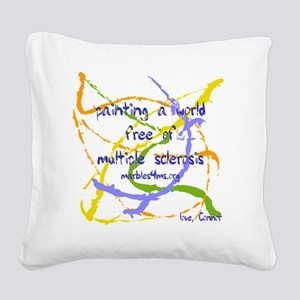 Marble painting by marbles4ms Square Canvas Pillow