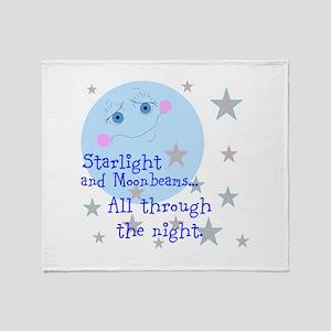 Starlight And Moonbeams Throw Blanket