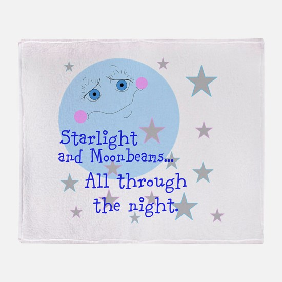 Starlight And Moonbeams Throw Blanket
