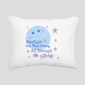 Starlight And Moonbeams Rectangular Canvas Pillow