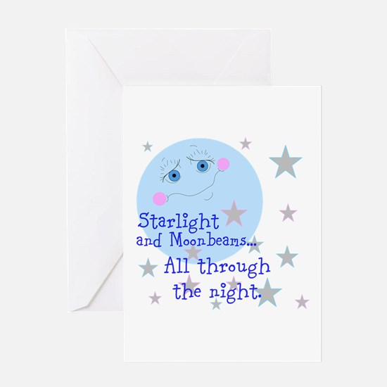 Starlight And Moonbeams Greeting Card