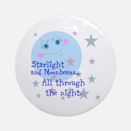 Starlight And Moonbeams Ornament (Round)