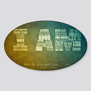 I AM Word Art Sticker (Oval)