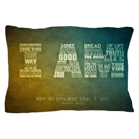 I AM Word Art Pillow Case