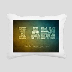 I AM Word Art Rectangular Canvas Pillow