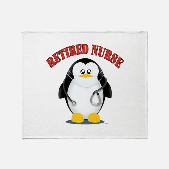 Retired Male Nurse Throw Blanket