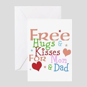 Free Hugs And Kisses Greeting Card