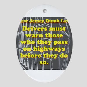 New Jersey Dumb Law #1 Oval Ornament