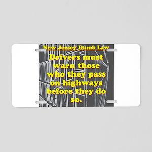 New Jersey Dumb Law #1 Aluminum License Plate