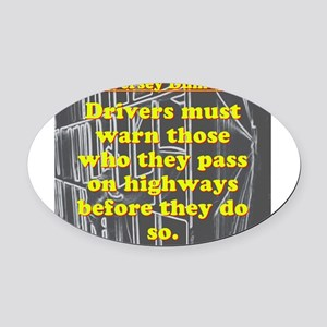 New Jersey Dumb Law #1 Oval Car Magnet