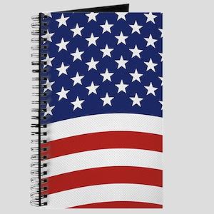 American Flag Waving Journal