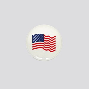 American Flag Waving Mini Button