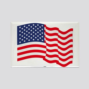 American Flag Waving Magnets
