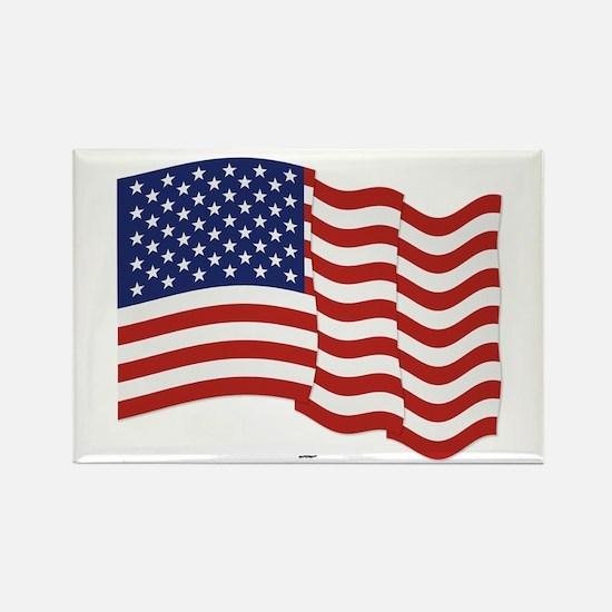 American Flag Waving Magnets