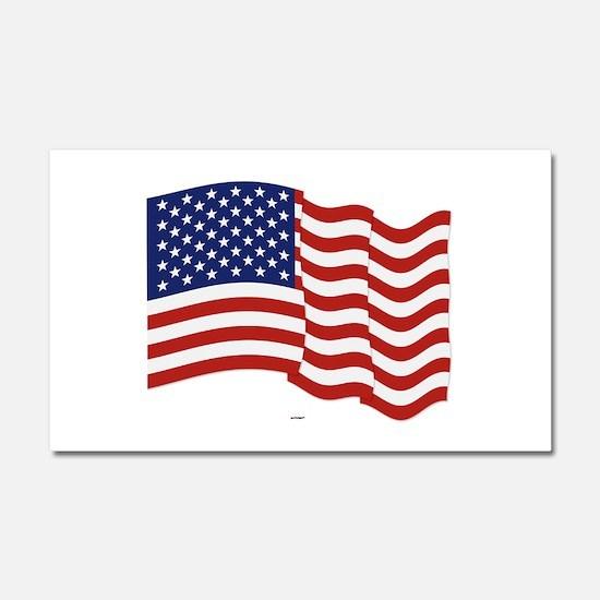 American Flag Waving Car Magnet 20 x 12