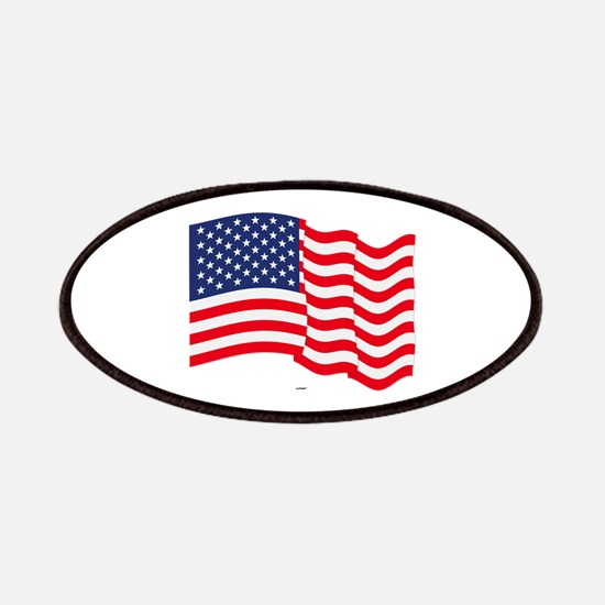 American Flag Waving Patches