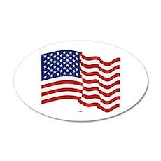 American Flag Waving Wall Sticker