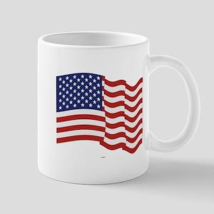 American Flag Waving Mugs