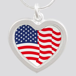 American Flag Waving Necklaces