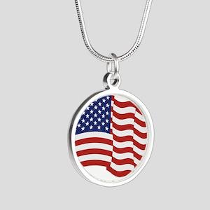 American Flag Waving Necklaces