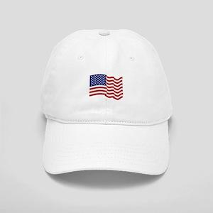 American Flag Waving Baseball Cap