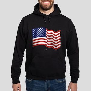 American Flag Waving Hoodie