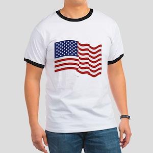 American Flag Waving T-Shirt