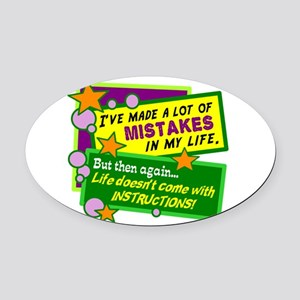 A Lot Of Mistakes/ Oval Car Magnet