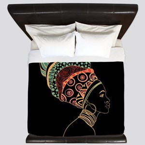 African Woman King Duvet