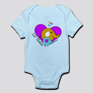 Lil Sister Elephant Personalized Infant Bodysuit