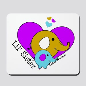 Lil Sister Elephant Personalized Mousepad