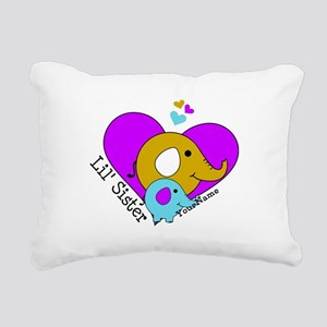 Lil Sister Elephant Pers Rectangular Canvas Pillow