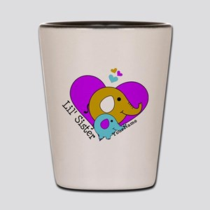 Lil Sister Elephant Personalized Shot Glass