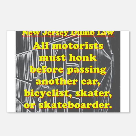 New Jersey Dumb Law #2 Postcards (Package of 8)