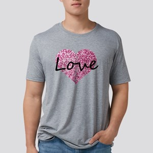Love Pink Glitter Heart T-Shirt
