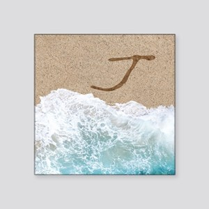 LETTERS IN SAND J Sticker