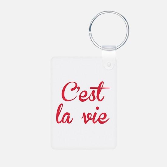 C'est La Vie Aluminum Photo Keychain