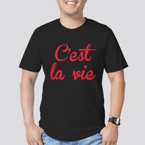 C'est La Vie Men's Fitted T-Shirt (dark)