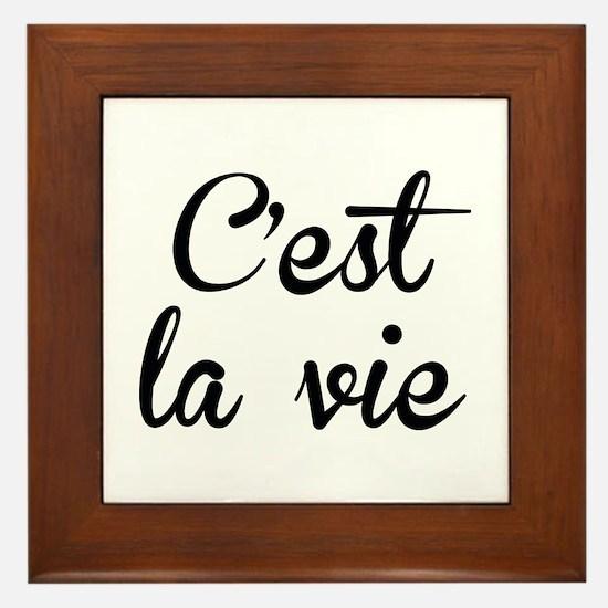 C'est La Vie Framed Tile