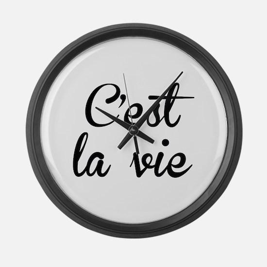 C'est La Vie Large Wall Clock