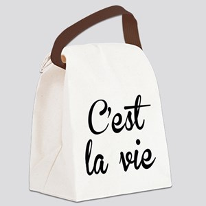 C'est La Vie Canvas Lunch Bag