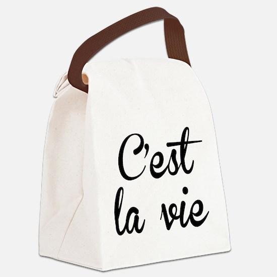 C'est La Vie Canvas Lunch Bag