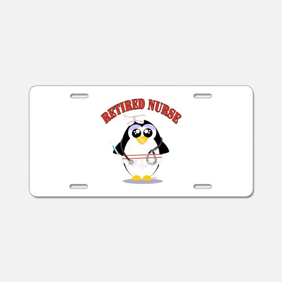 Retired Nurse (female) Aluminum License Plate