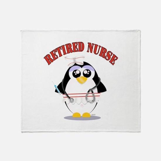 Retired Nurse (female) Throw Blanket