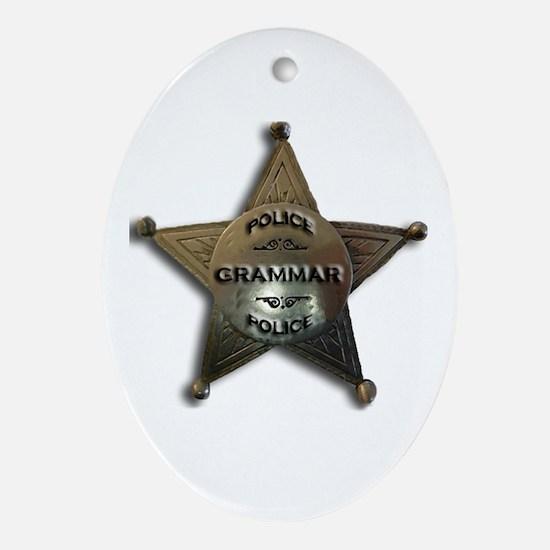Cute Educators Oval Ornament