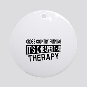 Awesome Cross Country Running Playe Round Ornament