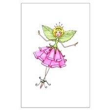 Whimsical Paper Rose Fairy Posters