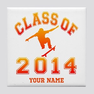 Class Of 2014 Skateboard Tile Coaster